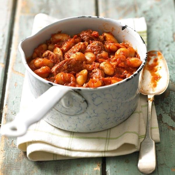 Butter bean and chorizo stew