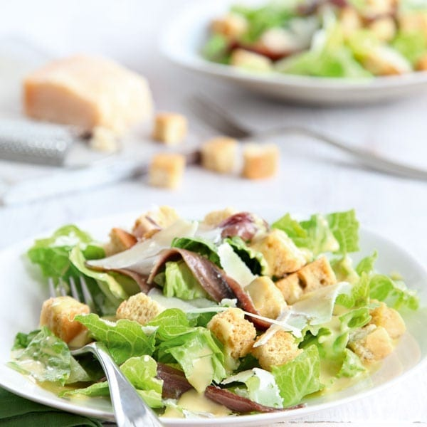 Classic Caesar dressing for Caesar salad