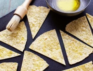 Home-made tortilla chips