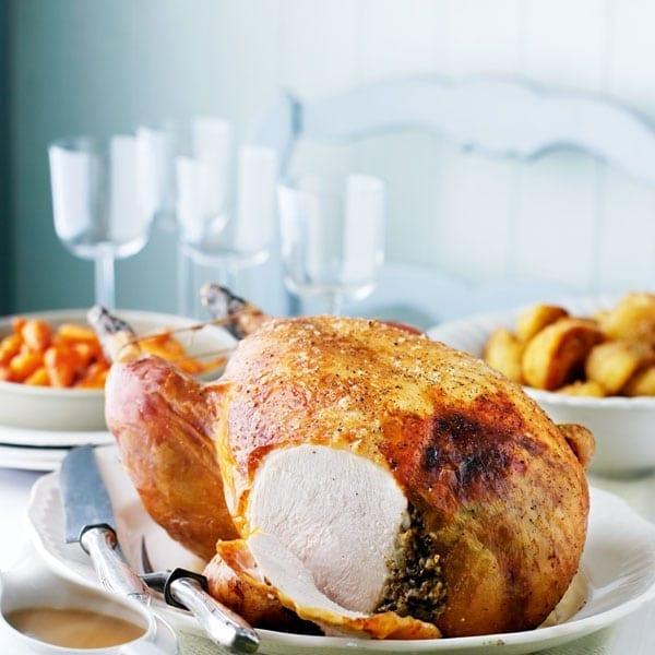 Haggis-stuffed turkey