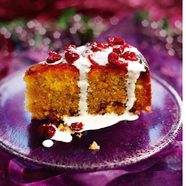 Orange and cranberry torte