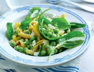 Summer spinach pasta salad
