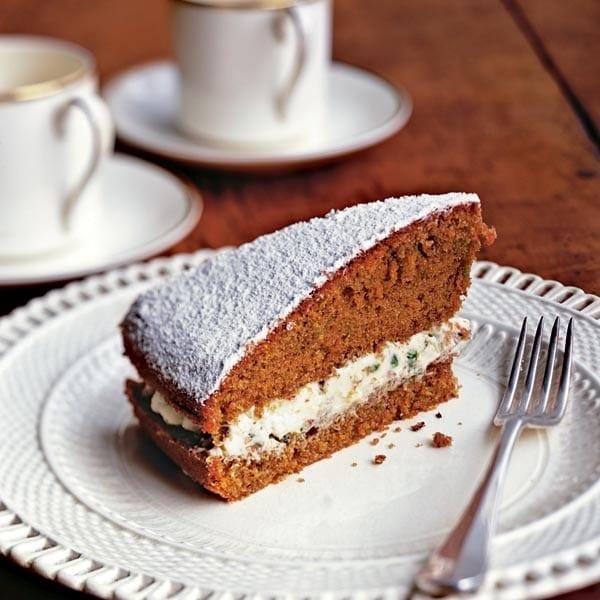 James Martin's pistachio coffee cake
