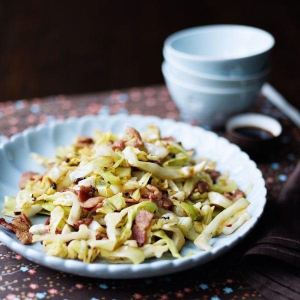 Sichuan smoky bacon cabbage