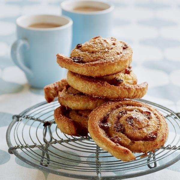 Cinnamon and raisin swirls