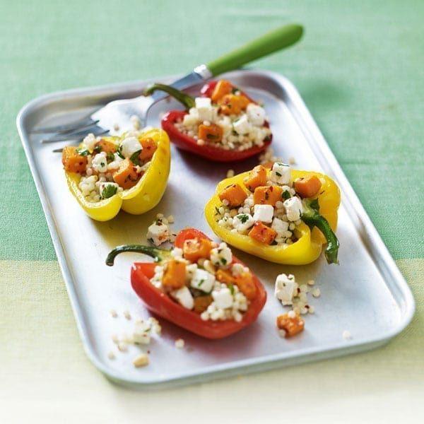 Quick couscous-stuffed peppers