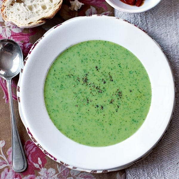 Watercress and parsley soup