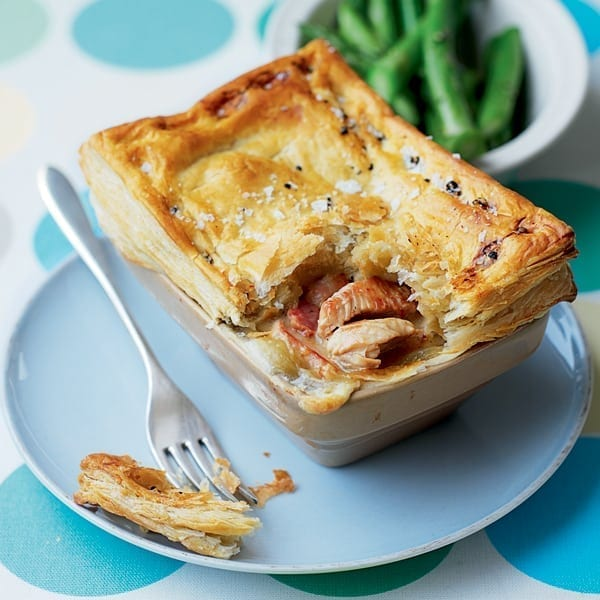 Turkey and bacon pies