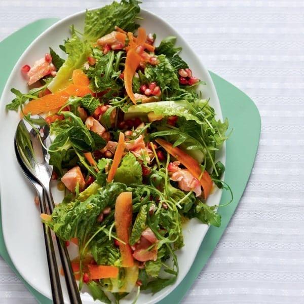 Bittersweet salmon salad