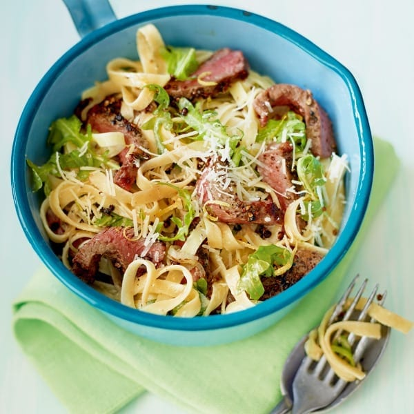 Steak tagliatelle