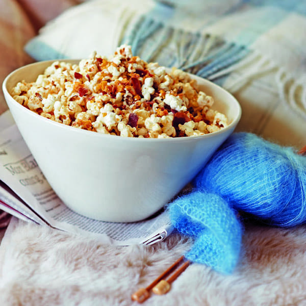Honeycomb, pancetta and maple popcorn