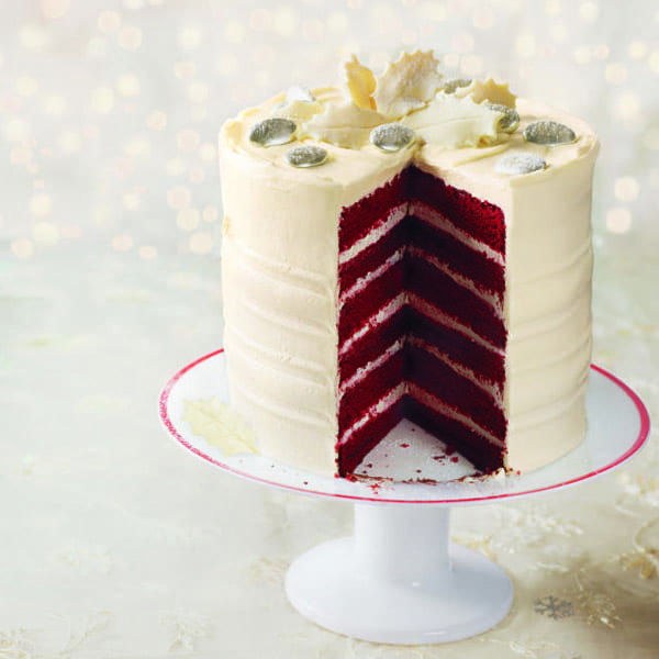 Frosted red velvet layer cake recipe