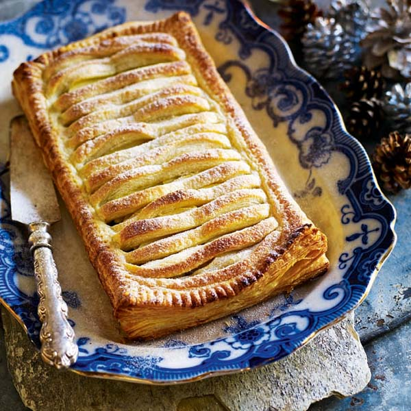 Cranberry mincemeat and apple jalousie