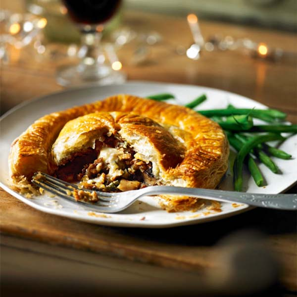 Mushroom and époisses pithiviers