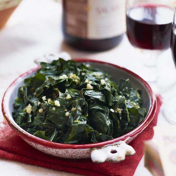 Cavolo nero with garlic beurre noisette