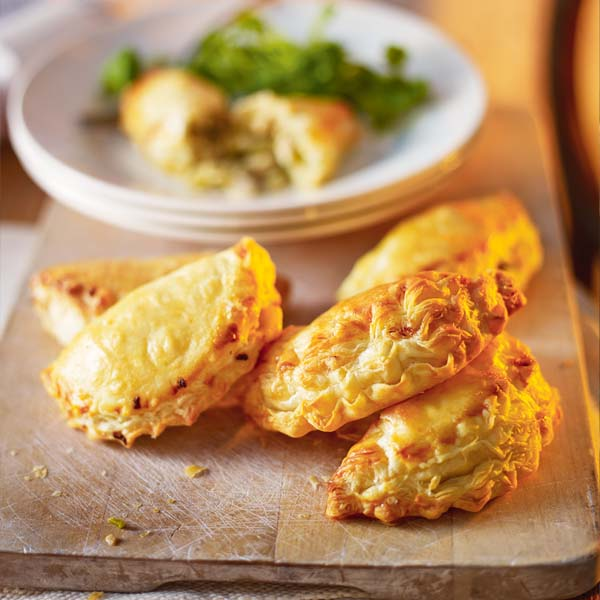 Turkey, sprout and stuffing pasties