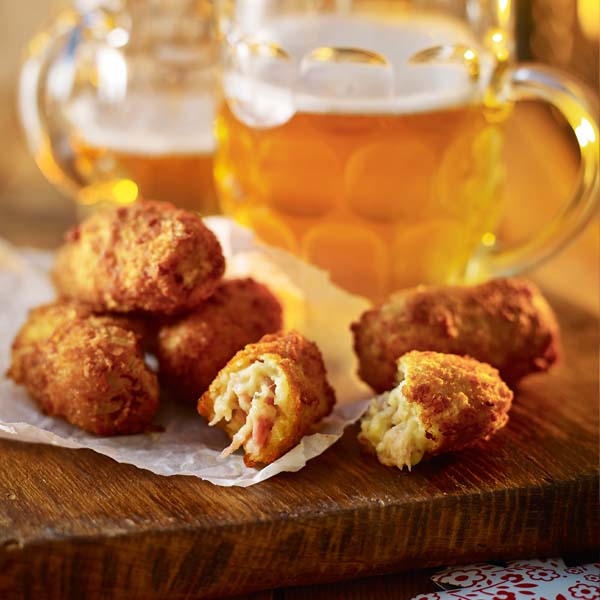 Ham and blue cheese croquettes
