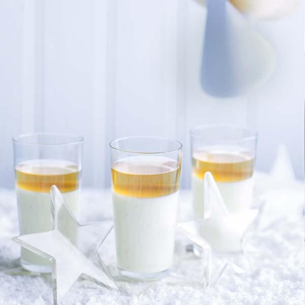 Set vanilla cream and sauternes jellies