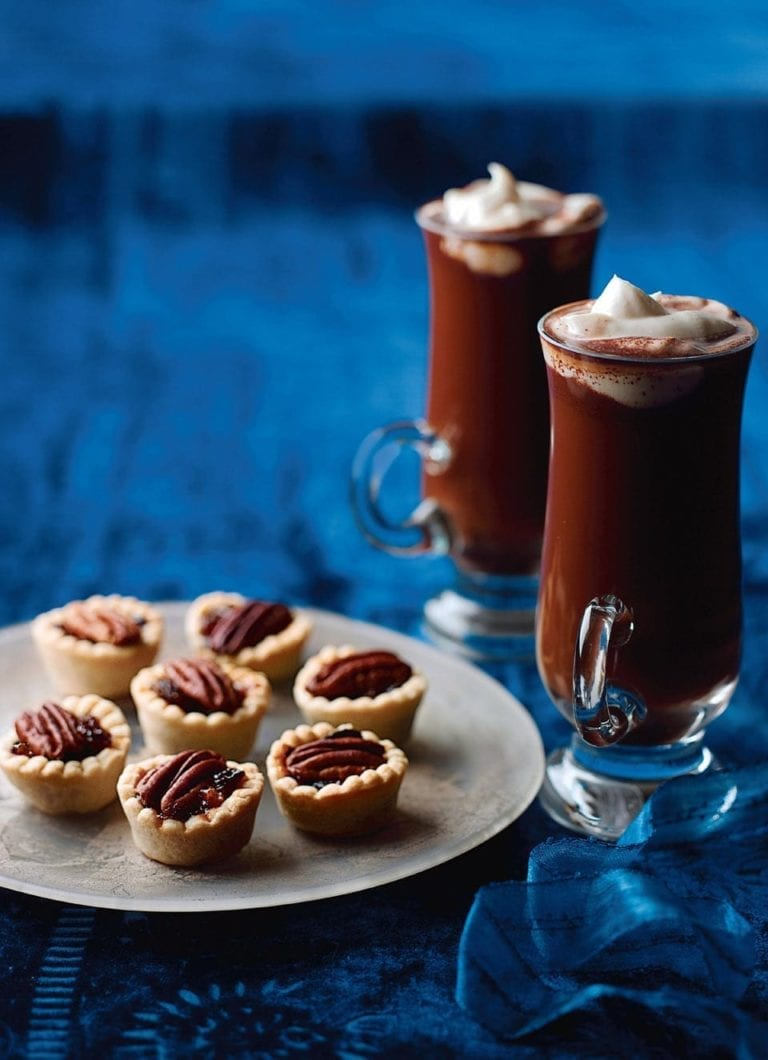 Spiced coffee and pecan mince pies