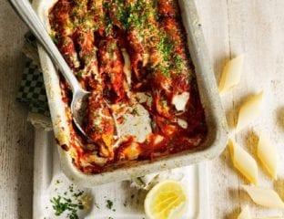Pancetta and taleggio pennoni