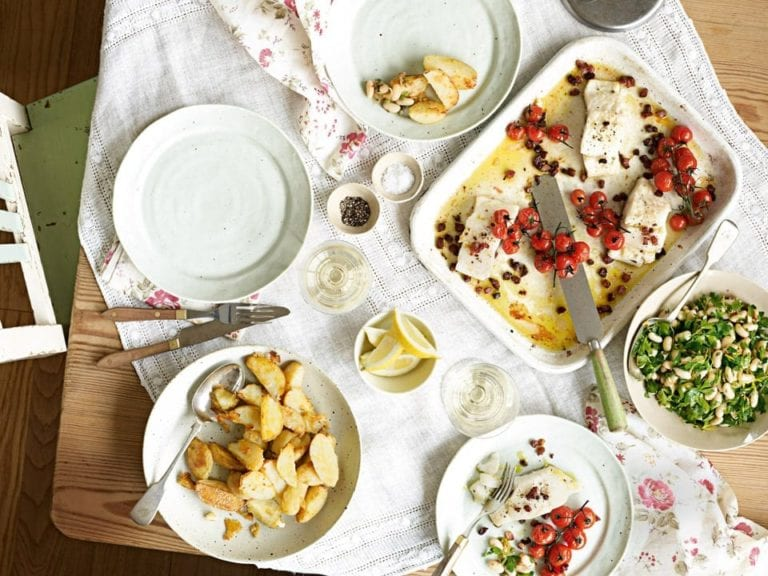 Roast parmesan and mustard new potatoes
