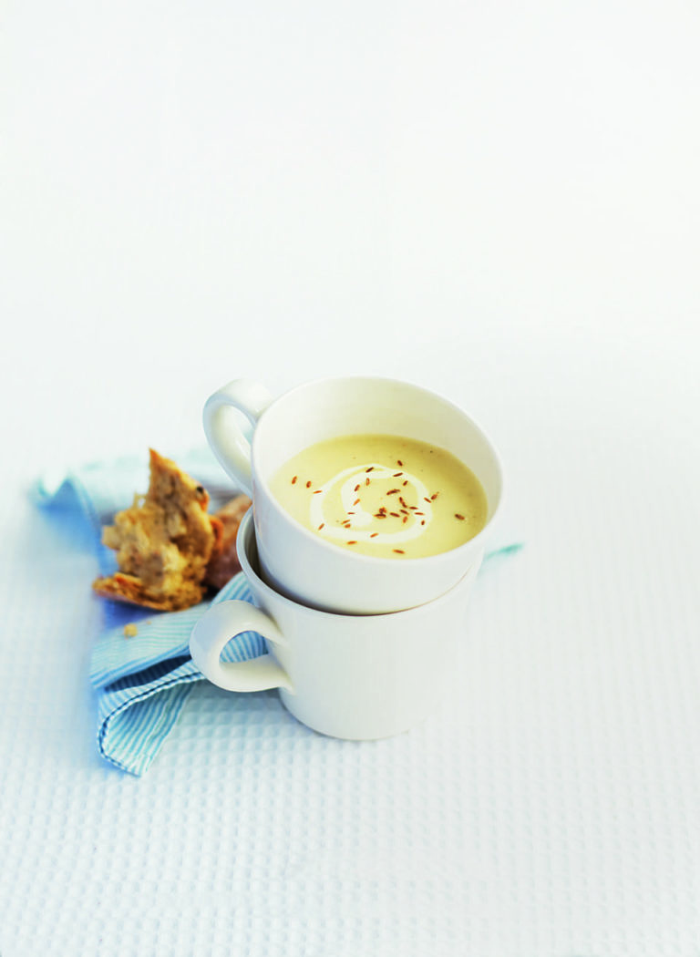 Spiced celeriac soup