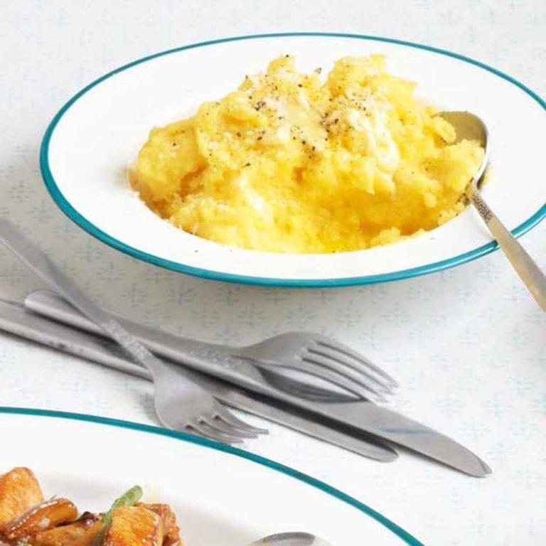 Quick creamy polenta