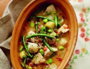Spring veg and chicken stew