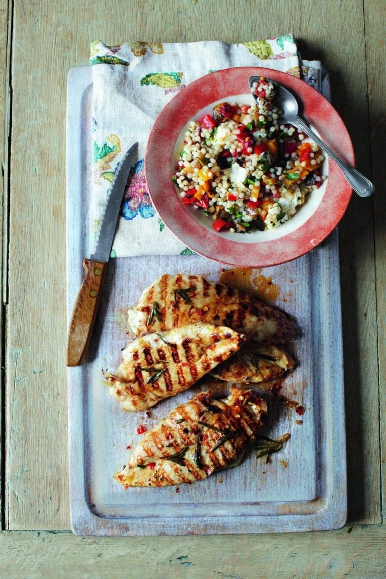 Chargrilled lemon chicken with couscous