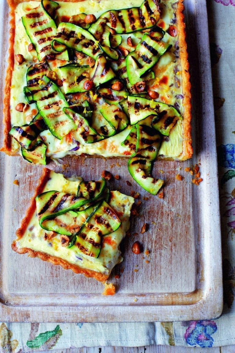 Cheese and courgette tart