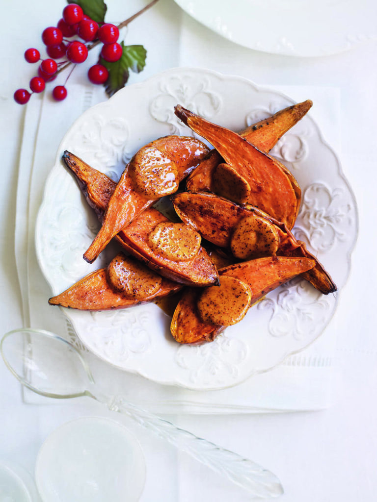 Baked sweet potatoes with spiced butter