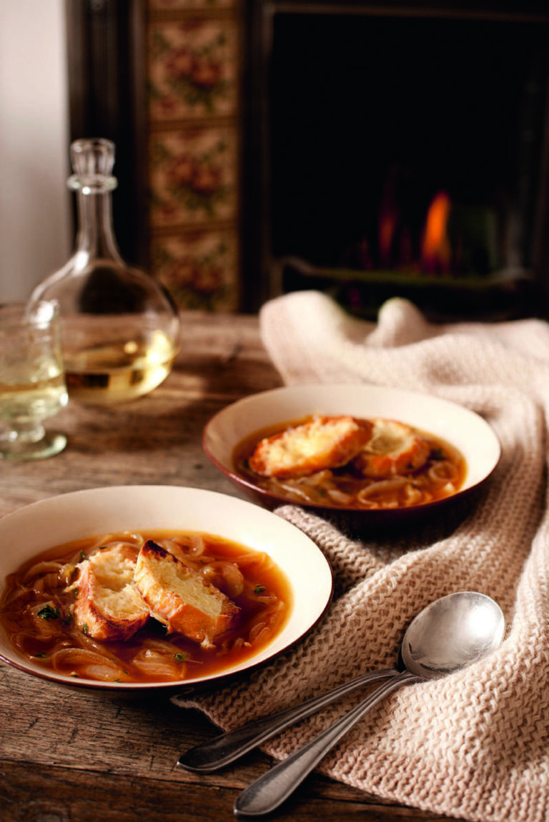 French onion soup with Gruyère toasts