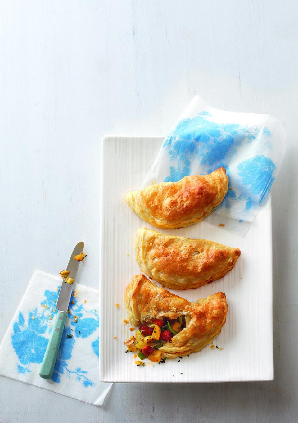 Cheat's chorizo and leek pasties | delicious. magazine