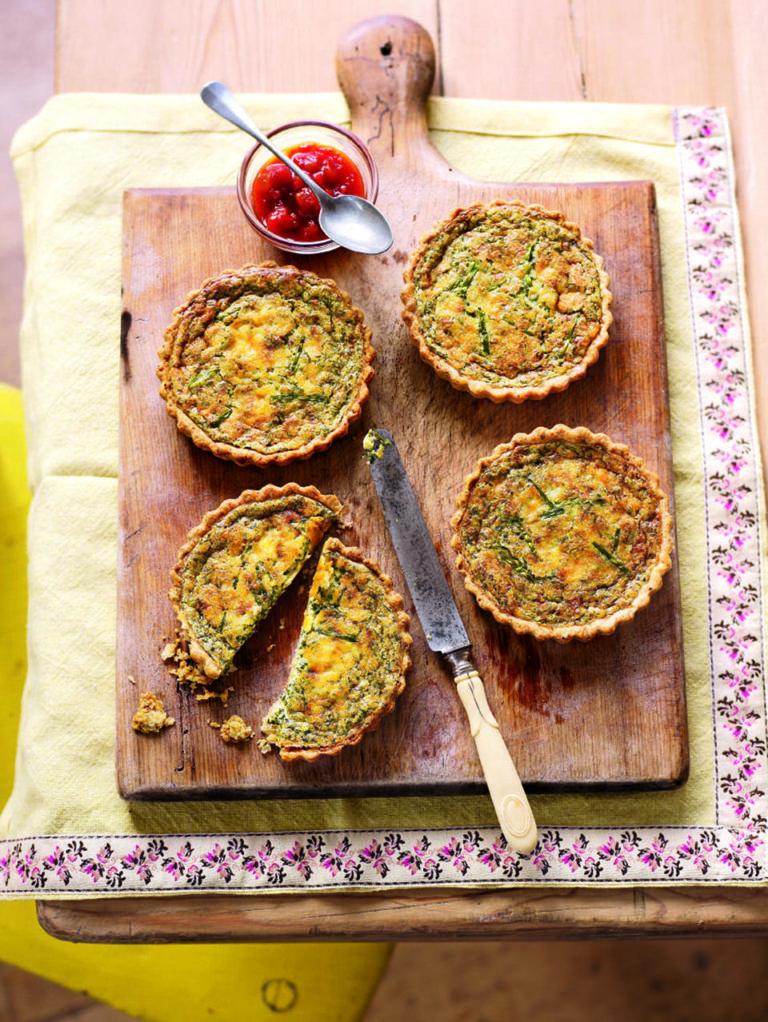 Spring herb tartlets