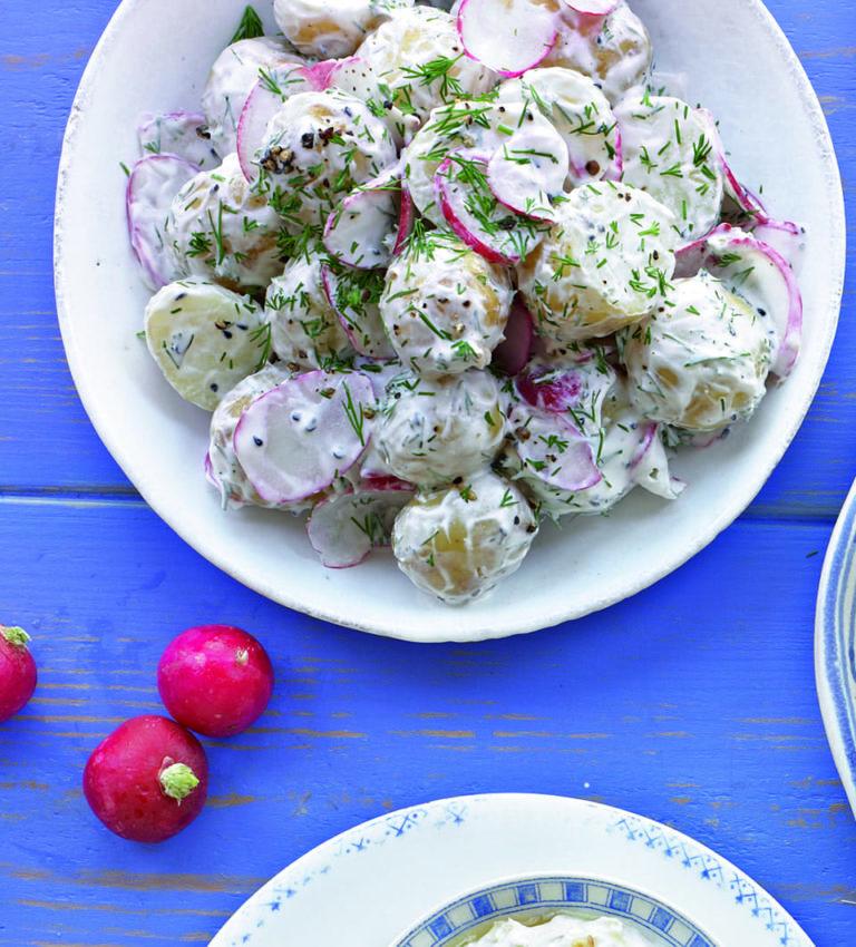 New potato, radish and dill salad