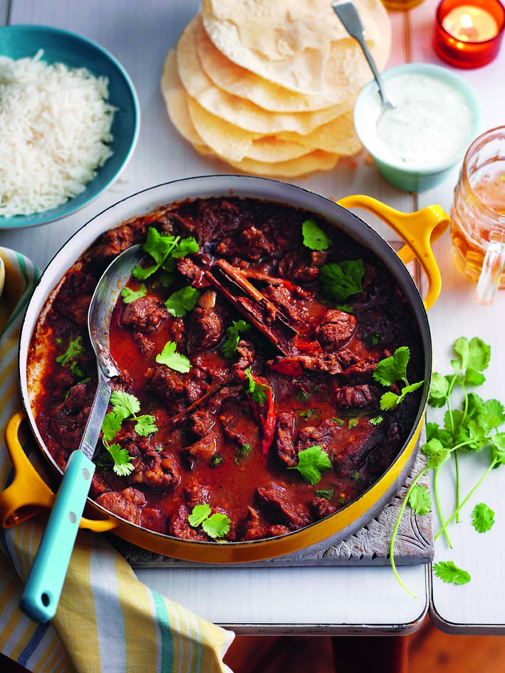 Warming lamb curry