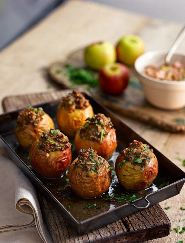 Veal and pancetta-stuffed apples