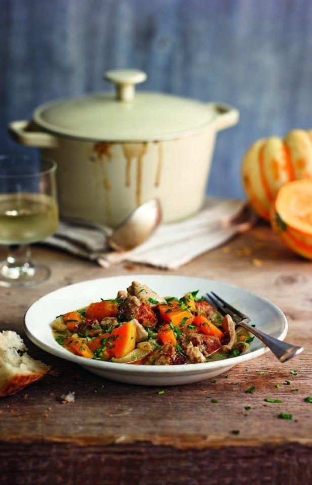 Chicken, sausage and squash stew
