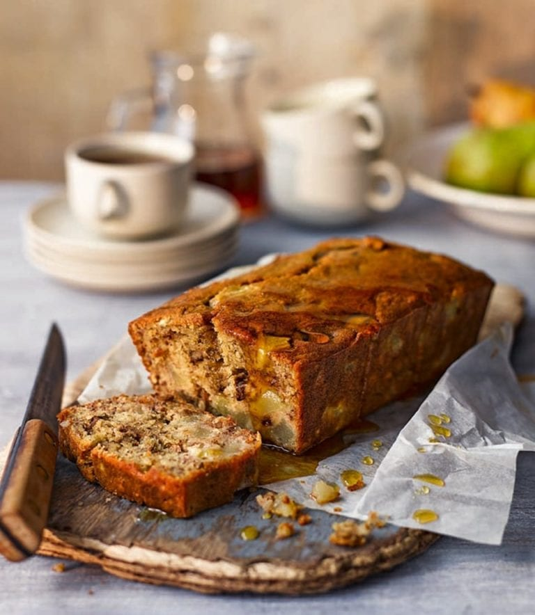 Pear and banana bread