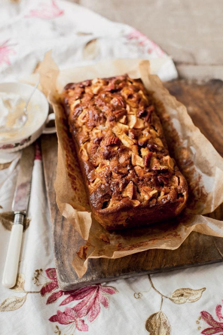 Sticky Apple And Gingerbread Pecan Loaf Cake Delicious Magazine