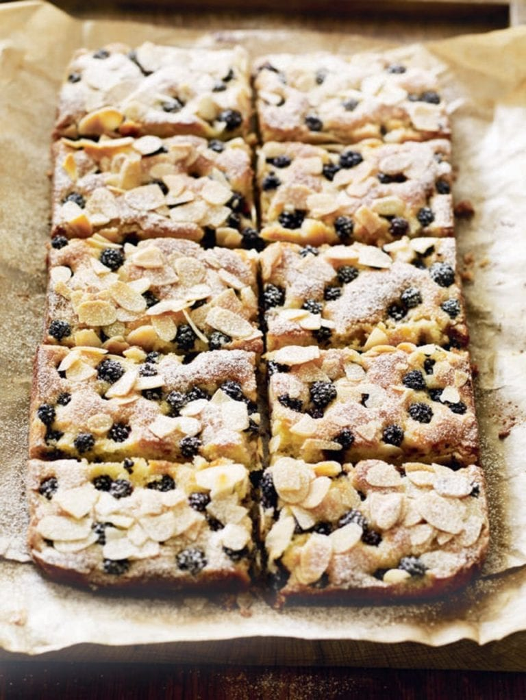 Blackberry, lemon and almond bars