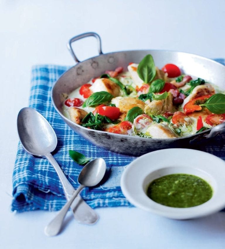 Pesto pan chicken