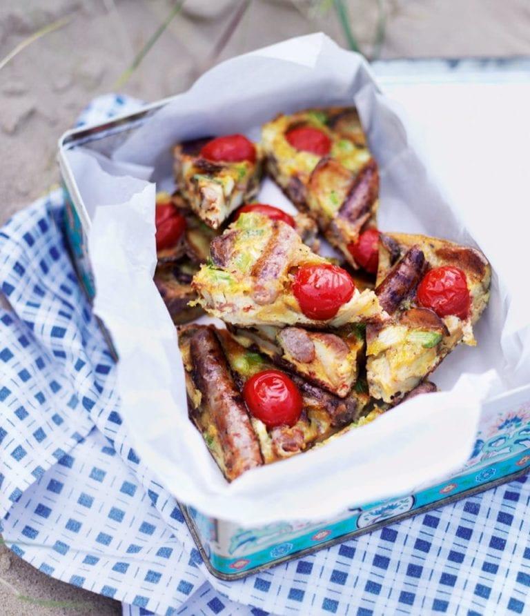 One-pan English breakfast frittata