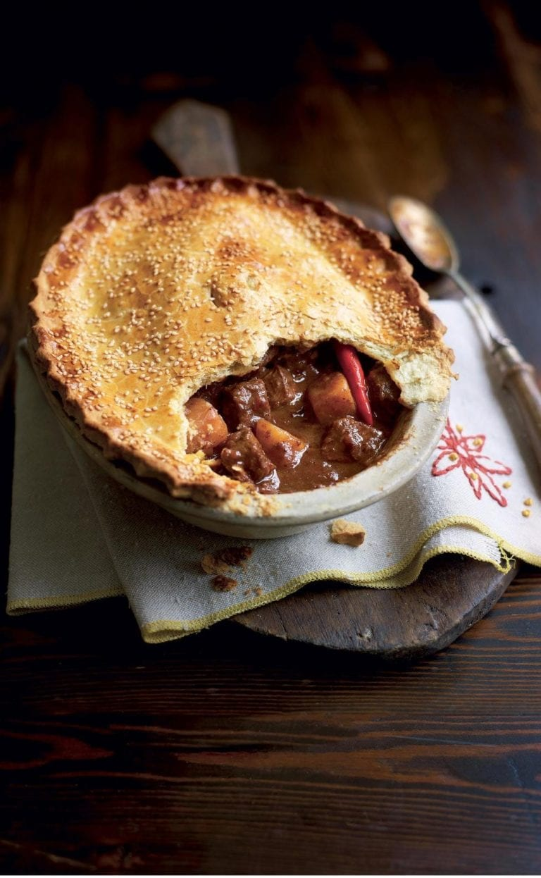 Chinese spiced beef pie