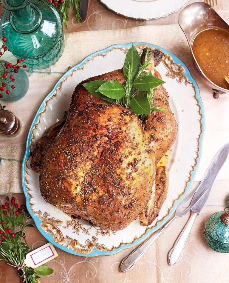 Michel Roux's peppered turkey with ale sauce