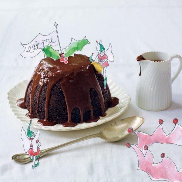 Christmas hot chocolate pudding