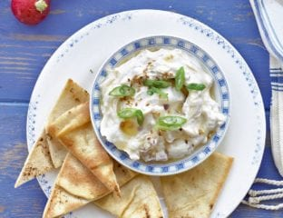 Greek yogurt, lemon and tahini dip