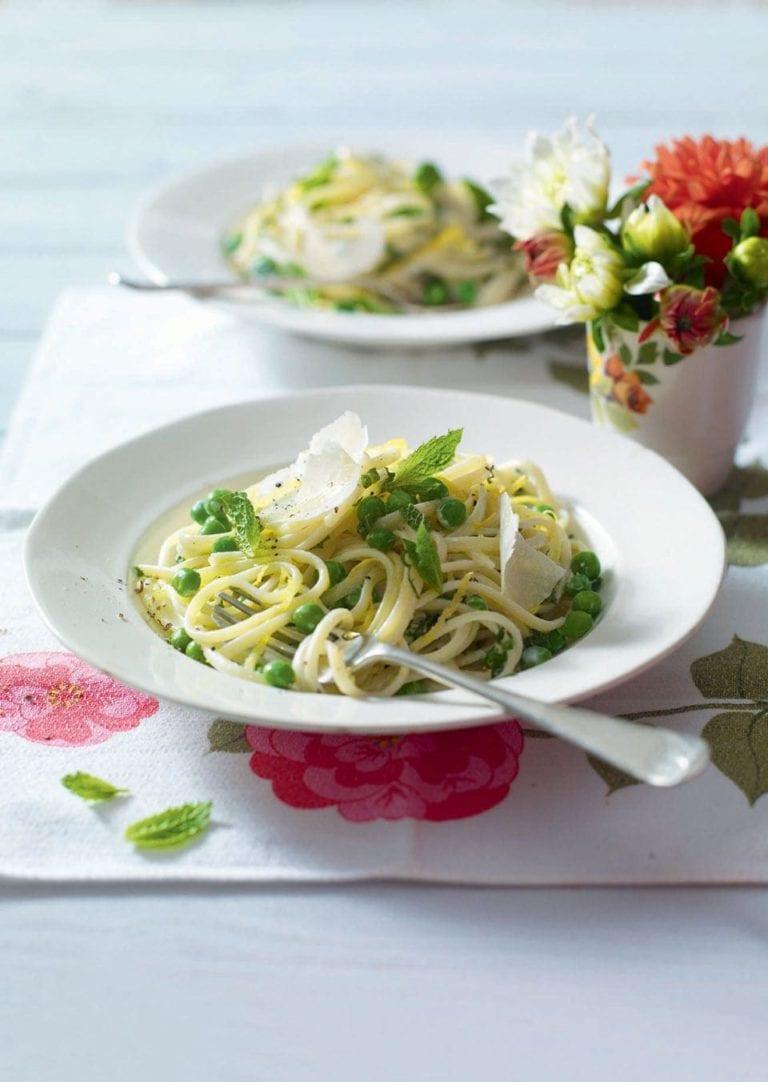 Ricotta and lemon pasta