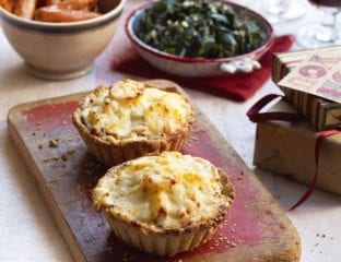 Mushroom and potato dauphinois tarts