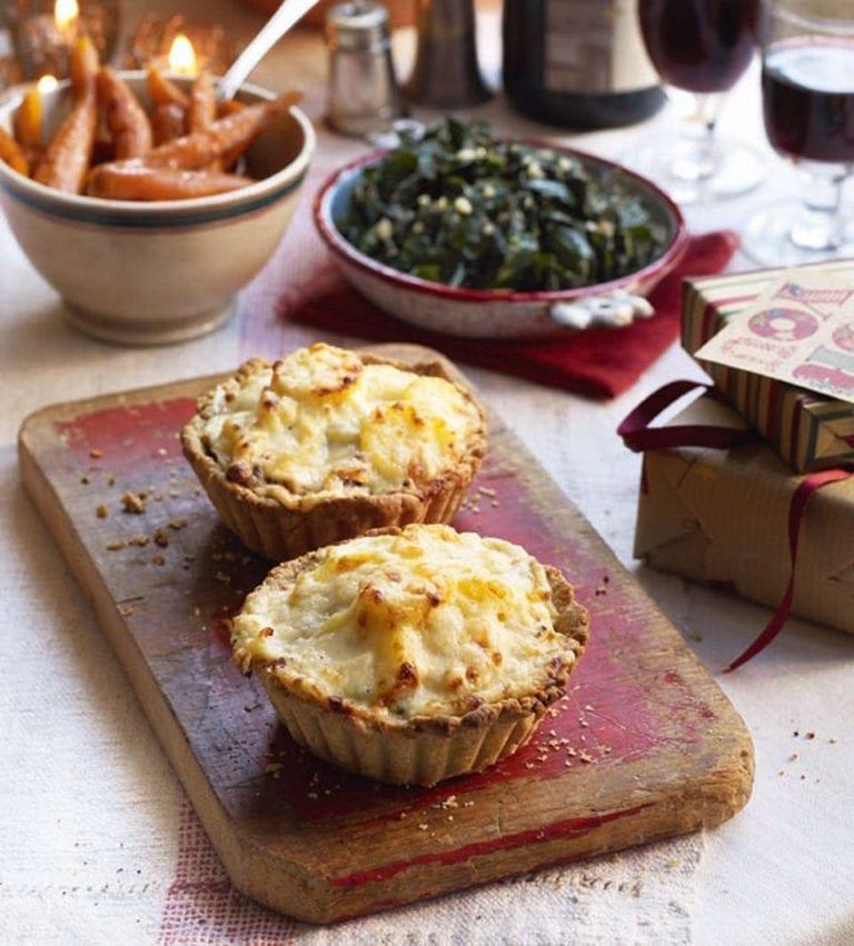 Mushroom and potato dauphinois tarts